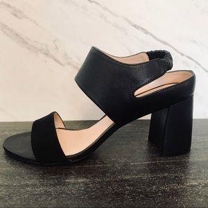 Stuart Weitzman Erica Black Block Sandal Heels